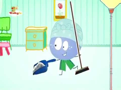 BabyTV Stick with Mick Mick cleans his house english