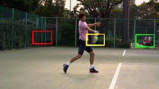 Большой теннис. Фрагмент видео урока. Удар справа часть 5/1.