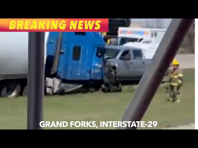 Serious Crash On Interstate-29 By Grand Forks, * Viewer Video