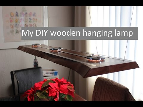 A wooden LED hanging lamp - design and making