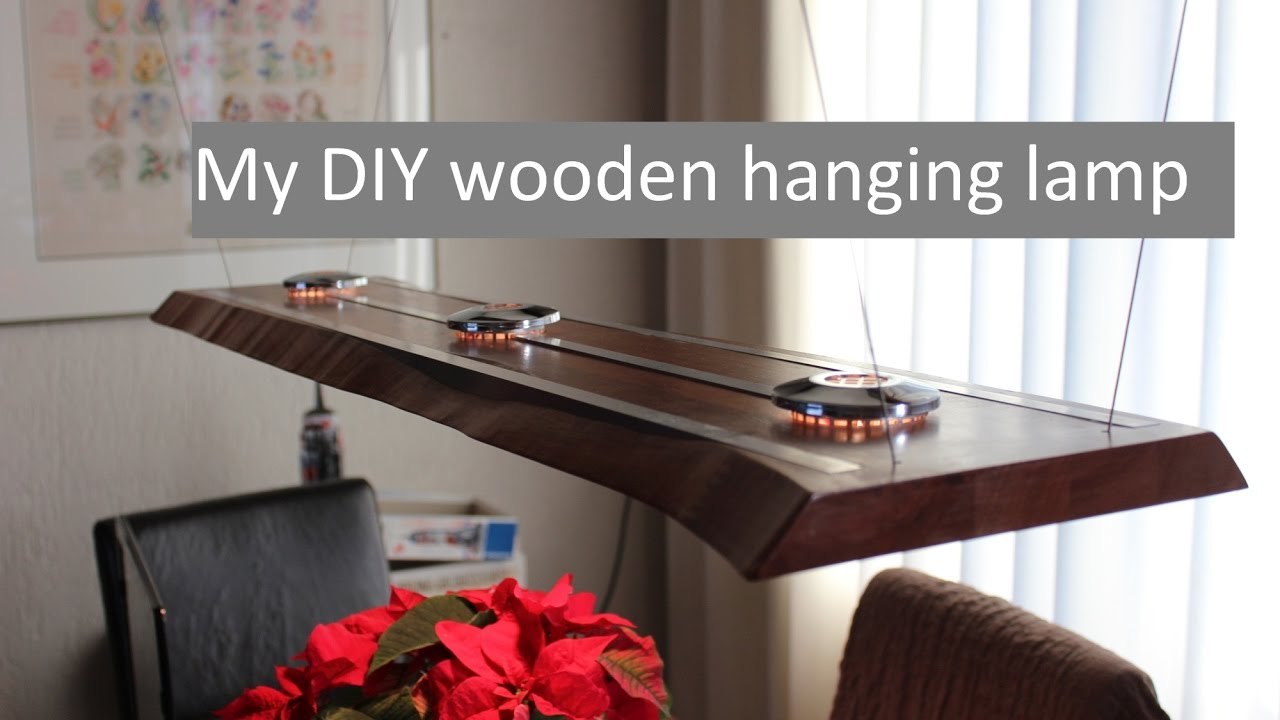 A Wooden Led Hanging Lamp Design And Making Youtube