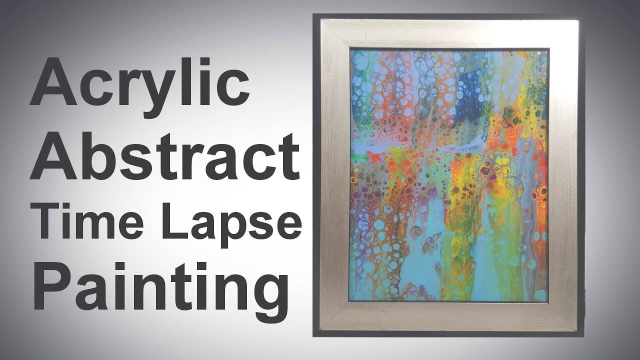 cool thrift store find turned into framed abstract art upcycle recycle time lapse