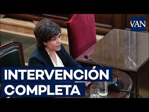 [JUICIO PROCÉS] Intervención completa de Sáenz de Santamaría a Xavier Melero