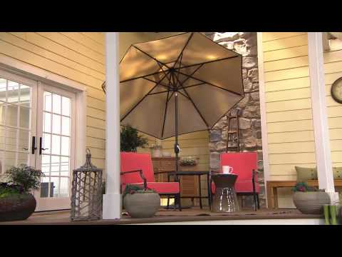 Scott Living Crank & Tilt Umbrella with Cover with Carolyn Gracie