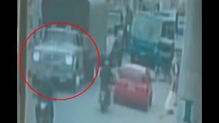 Trágico accidente: niño en bicicleta tropieza con un andén, es atropellado y muere |Noticias Caracol