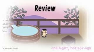 One Night, Hot Springs - PC Game Review - UT