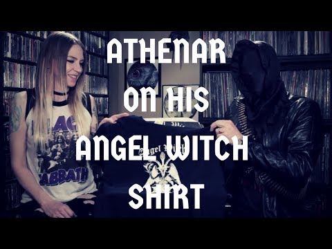 Athenar on his Angel Witch Shirt