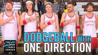 Dodgeball with One Direction(James takes on the role of player-coach with the guys of One Direction for the match of their lives.
