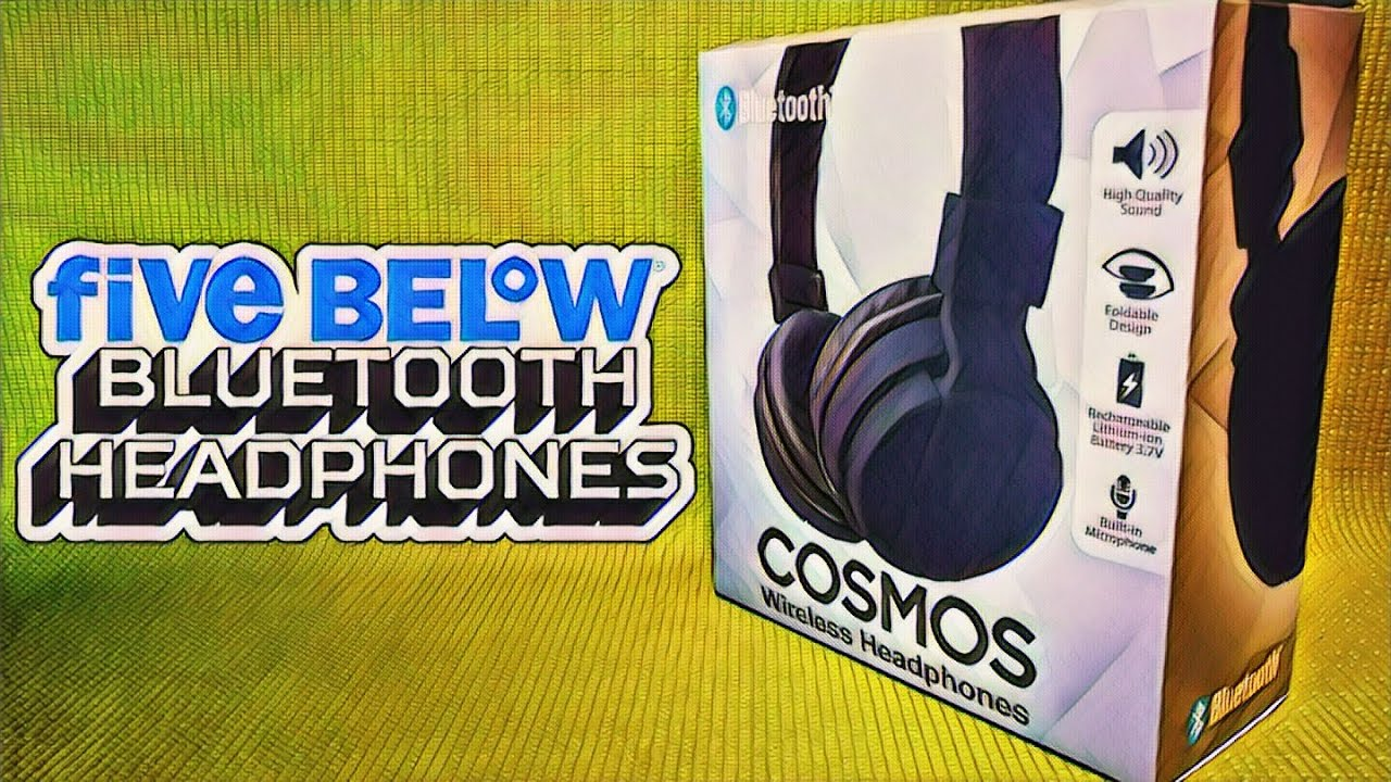 01f6b8b2f31 Bluetooth Headphones from Five Below - $5 Cosmos Headphones Review - Budget  Buys Ep. 3