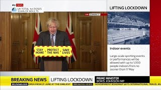 In full: Boris Johnson holds #COVID19 news conference on England's roadmap out of lockdown