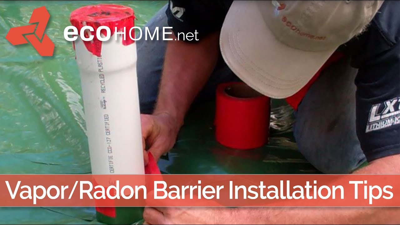 Slab Floor Vapour Barrier And Radon Stack Youtube