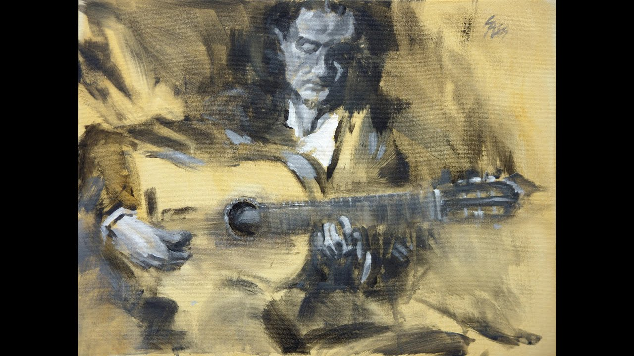 Flamenco Guitarist Paintings