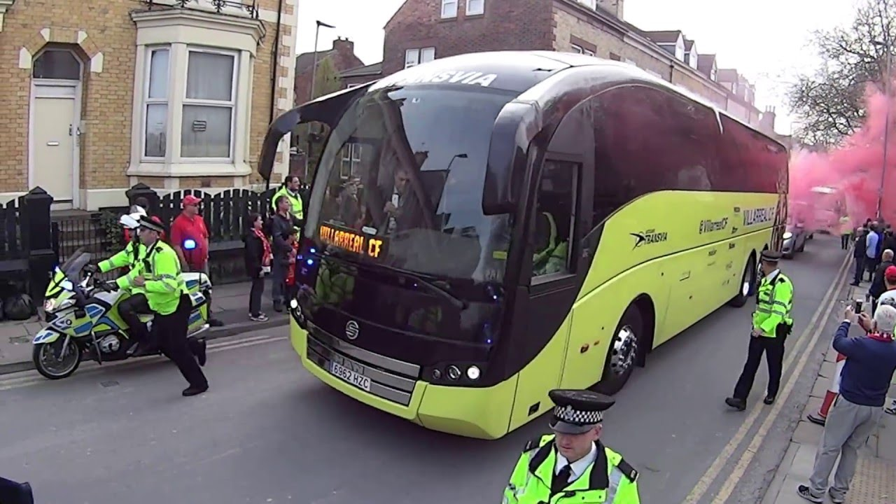 Liverpool v Villarreal Arrival of team bus 5th May 2016 ...