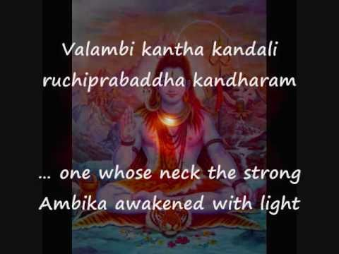 Hymn with English subtitles - Shiva Tandava stotra - Ravana's great composition