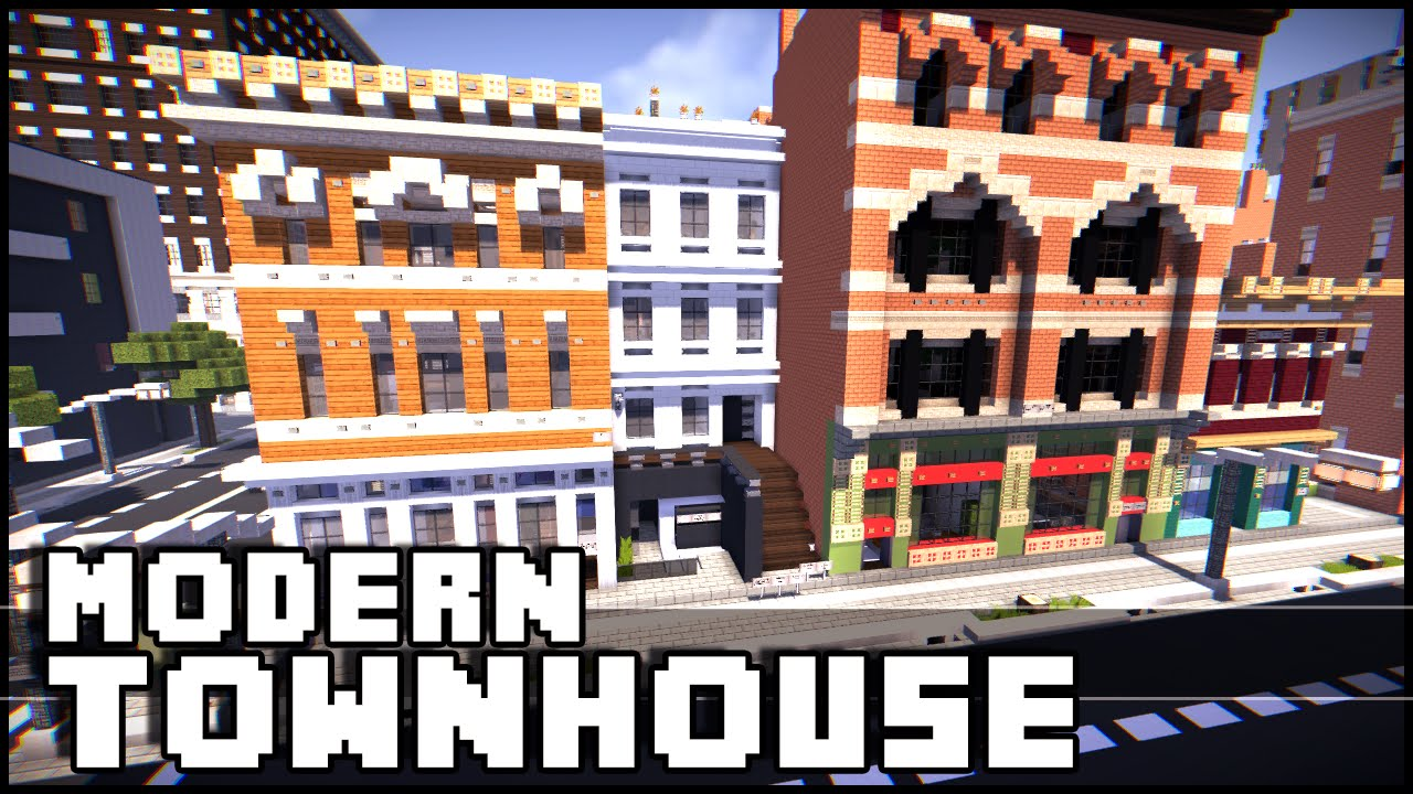Minecraft Modern Townhouse Youtube