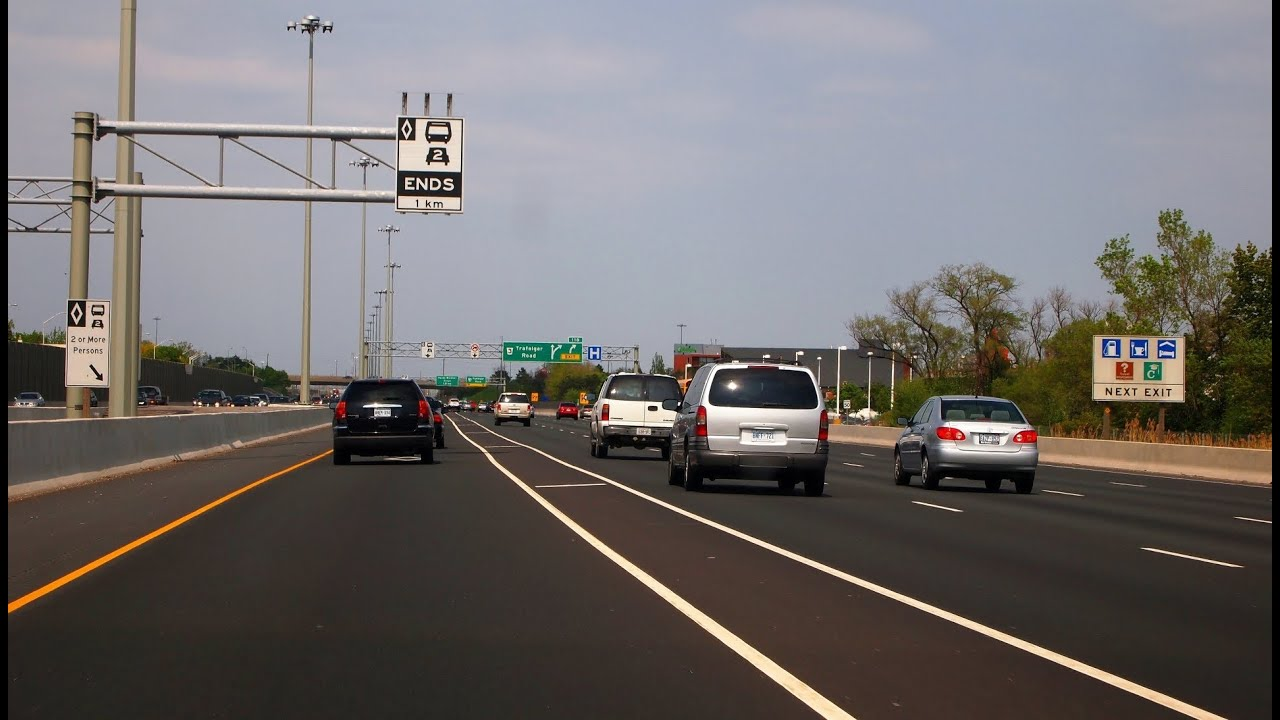 What Is Hov Lane >> Highway 403 Hamilton To Mississauga Hov Lanes Youtube