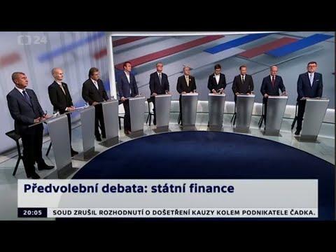 #8 Předvolební debata: Zástupci 10 stran o financích, EET a euru