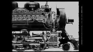 Operation of a steam loco, ATSF 1930