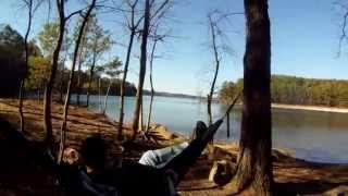 1st Time Using / Trying Out Eno JungleNest Hammocks at Lake Lanier oVo