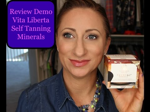 Review and Demo Vita Liberta Self Tanning Minerals LisaSz09