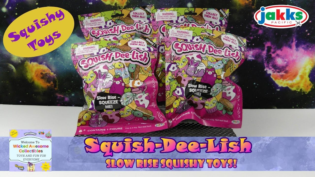 Squish Delish Wacky Series : Squish-Dee-Lish Series 1 - Slow Rise Squishy Toys - Blind Bag Opening - Really Cool - YouTube