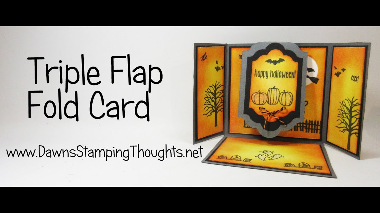 Triple Flap Fold Halloween Card With Spooky Fun From