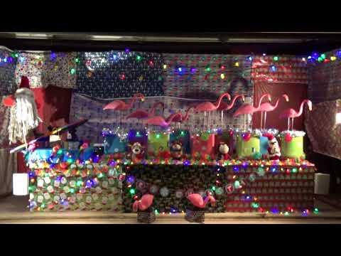 Flamingo Christmas Display 2017