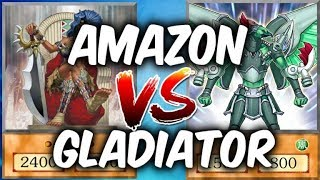 Yugioh AMAZONS vs GLADIATOR-BEASTS (Yu-gi-Oh Competitive Decks)