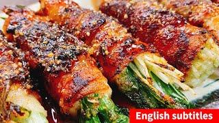 水菜の豚バラ巻き|こっタソの自由気ままに【Kottaso Recipe】さんのレシピ書き起こし