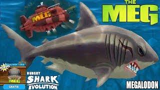 Hungry Shark Evolution NUEVO MEGALODON DE LA PELICULA THE MEG (EL MEGALODON) Y NUEVO SUBMARINO!
