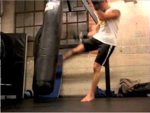 My Punching Bag Work Training Cardio Through Kickboxing Video