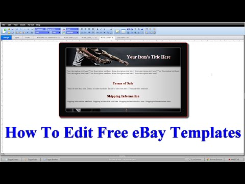 How To Edit HTML Code For Free EBay Templates Step By Step (Part 2)