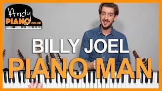 Piano Man - Billy Joel Piano Tutorial - How to play songs