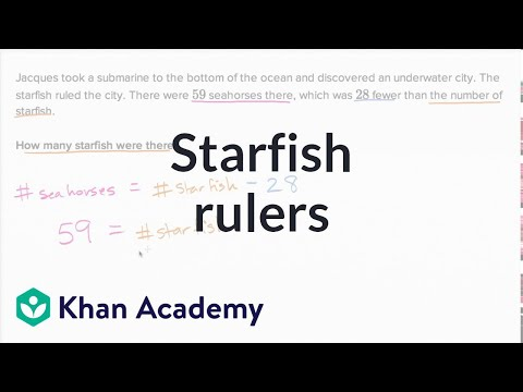 Starfish Rulers | Addition And Subtraction Within 100 | Early Math | Khan Academy