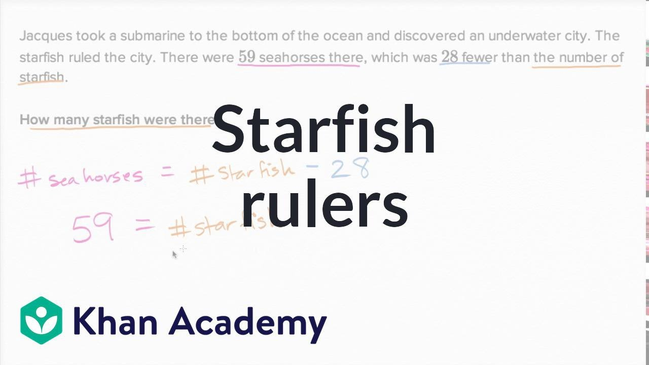 Worksheet Khan Academy Subtraction starfish rulers addition and subtraction within 100 early math khan academy