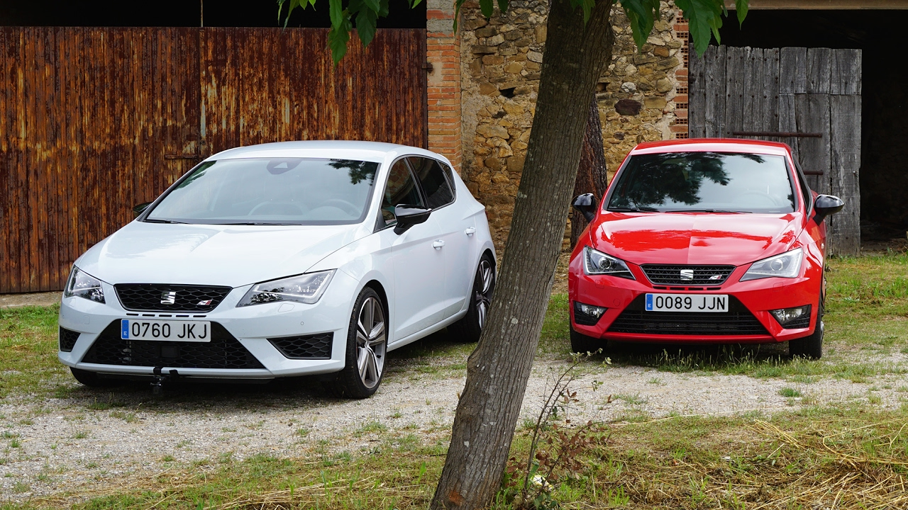 seat leon cupra vs seat ibiza cupra im test vergleich. Black Bedroom Furniture Sets. Home Design Ideas