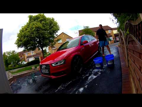 Audi A4 Black Edition Post Detail Wash