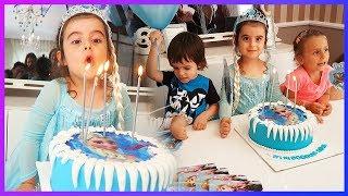 Karlar Kraliçesi Prenses Rüya 4 Yaşında, Doğum Gününü Kutlaması, Pasta Üflkedik, Hediyeleri Açtık