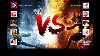 Война каналов! Голосуй за любимый канал! Кидс Диана шоу против Лайк настя Влог.