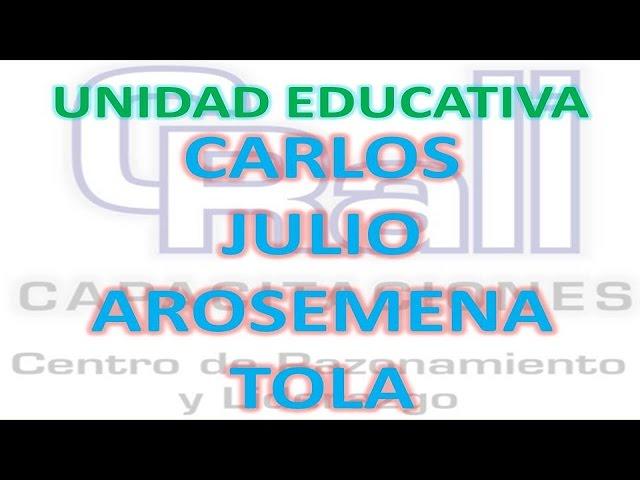 CRALI EN LA UE PRESIDENTE CARLOS JULIO AROSEMENA TOLA