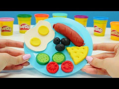 Play-Doh oyun hamurundan kahvaltı tabağı yapıyoruz