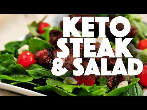 Keto Diet Steak And Salad Recipe Low Carb Ketogenic Diet