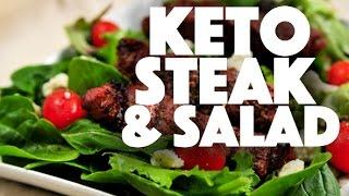Keto Diet Steak and Salad Recipe - low carb - ketogenic diet - ketosis