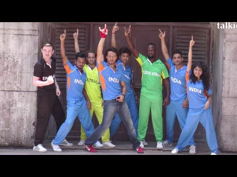 Tiger Shroff's Photoshoot For Cricket Champions Trophy Commercial