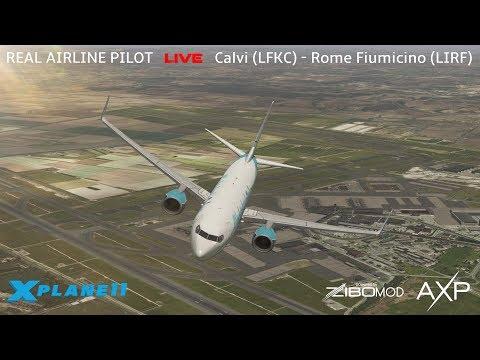 Real Airline Captain LIVE | ZIBO MOD 737 | Calvi - Rome