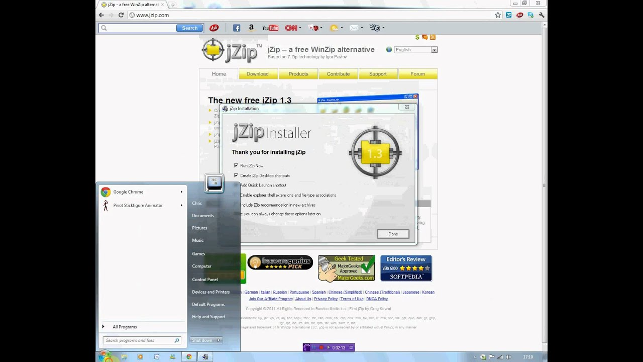 How to download a jZip file opener and open a file