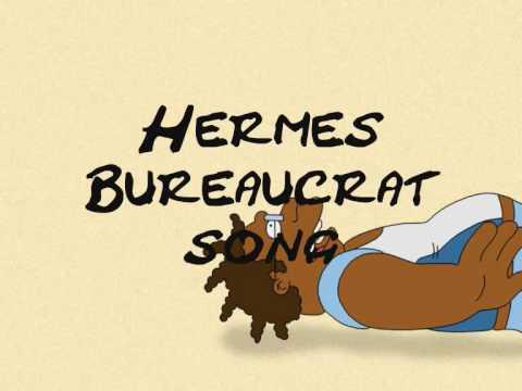 Futurama Hermes bureaucrat song with lyrics