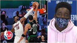 Bam Adebayo breaks down his block on Jayson Tatum | 2020 NBA Playoffs