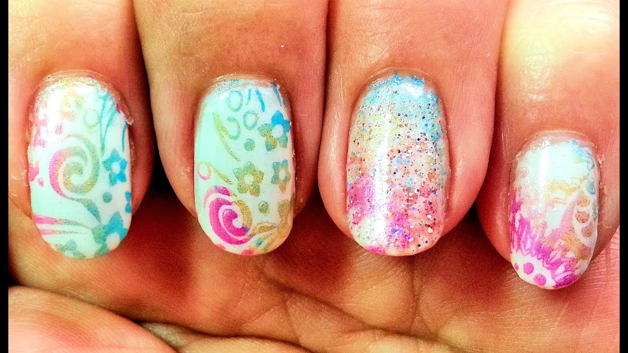 Multi color nail stamping tutorial with pueen encore plate 1b multi color nail stamping tutorial with pueen encore plate 1b nail art youtube prinsesfo Choice Image