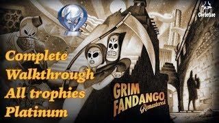 Grim Fandango Remastered | Complete Walkthrough |All trophies | Platinum